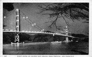 Golden Gate Bridge from Presidio San Francisco CA