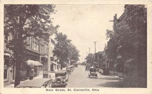 E90/ St Clairsville Belmont Co Ohio Postcard c20s Main Street Store 2