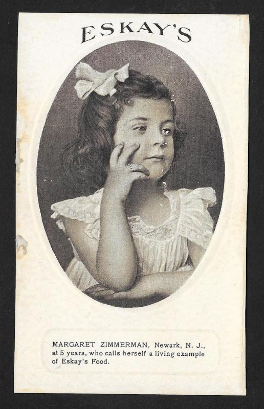 VICTORIAN TRADE CARDS (6) Eskay Food Kids Portraits & Story