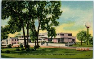 Chicago Linen Postcard TAM O' SHANTER COUNTRY CLUB Show Place of Chicagoland
