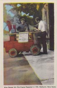 King George 3rd, Fire Engine Presented in 1787, Shelburne, Nova Scotia, Canad...