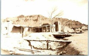 Old Tucson, Arizona RPPC Real Photo Postcard River / Street View / Bridges 1940s