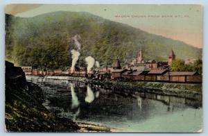 Postcard PA Mauch Chunk View From Bear Mountain c1909 View M11