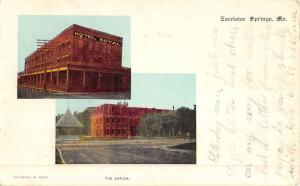 Excelsior Springs Missouri Historic Bldg Multiview Antique Postcard K51858