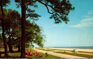 Mississippi Gulf Coast U S Highway 90 Overlooking Gulf Of Mexico