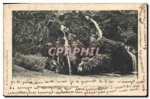 Old Postcard Baume les Messieurs Jura Three Waterfalls