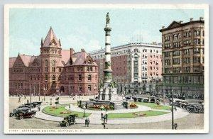 Buffalo New York~Lafayette Square~Vintage Autos~Detroit Publishing Co 71487~1911