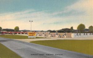Somerset Kentucky Court Street View Antique Postcard K80882