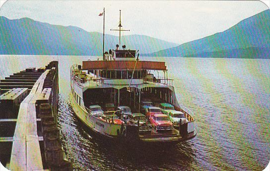 Ferry M V Anscomb At Kootenay Bay British Columbia