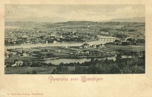 norway norge, TRONDHEIM TRONDHJEM, Panorama (1899)