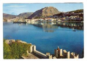 NAUPLIA, A view with Palamidi and Bourzl, Greece, 50-70s