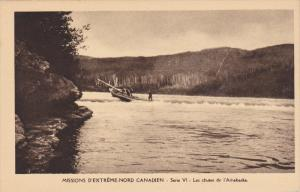 Catholic Missionaries Navigating Les Chutes de l'Arthabaska in Boat, Northwes...
