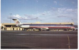 PHOENIX, Arizona, 1950-60s ; American Airlines McDonnel Douglas MD-82, Airport