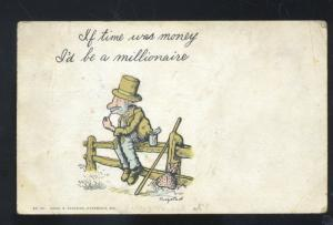 HOBO BUM DRIFTER ZORA MISSOURI BROWNING STOVER MO. VINTAGE POSTCARD MONEY