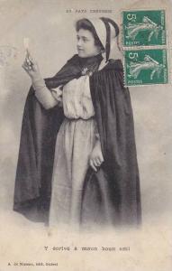 Au Pays Creusois, Y ecrive a moun boun ami, Creuse, France, PU-1912