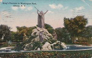 New York Albany King's Fountain In Washington Park 1926
