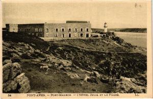 CPA PONT-AVEN - Port-Manech - L'Hotel Julia et le Phare (458053)