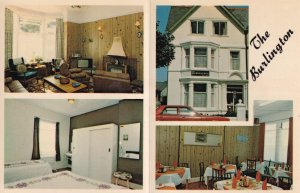 The Burlington Llandudno Hotel 1970s Postcard Advertising Card