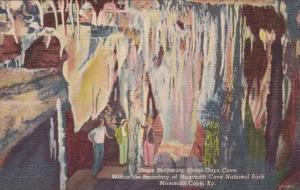 Kentucky Mammoth Cave Onyx Draperies Great Onyx Cave Curteich