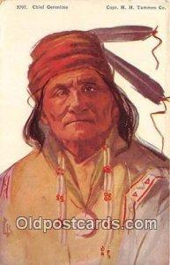 Chief Geronimo Artist L Peterson Copr HH Tammen Co Unused