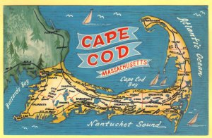 MAP OF BOSTON,SOUTH SHORE,PLYMOUTH AND CAPE COD, MASSACHISETTS   SEE SCAN  137