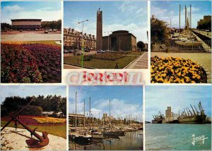 Modern Postcard Lorient Morbihan The Palais des Congres The Church Lady of Vi...