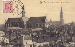 Belgium Anvers Eglise St Paul et Tour de la Cathedrale 1923