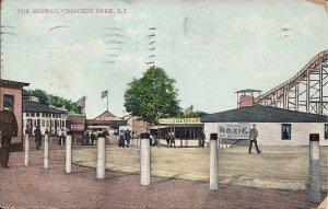 AMUSEMENT PARK, Providence, RI, Crescent Park, MOXIE & Ice Cream Signs 1910,