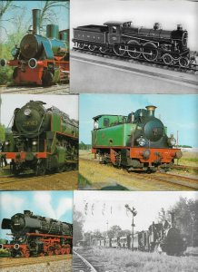 Trains And Steam Trains Lot of 18 Postcards Postcards BS.01