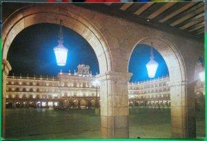 Spain Salamanca Plaza Mayor Vista Nocturna - unposted