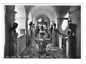 Italy Ana Capri San Michele Loggia Sculture Sculpture Glossy Photo Postcard 4X6