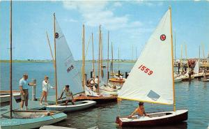 Valley Stream Long Island New York~Off to the Races~Sailboats in Water~1950s