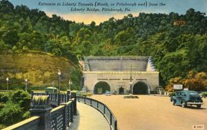 PA - Pittsburgh.  Entrance to Liberty Tunnels