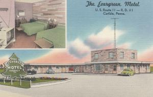 CARLISLE, Pennsylvania, 1930-40s ; The Evergreen Motel