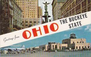 Ohio Greetings From The Buckeye State 1958