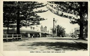 australia, PORT MACQUARIE, N.S.W., Main Street (1940s) RPPC Postcard