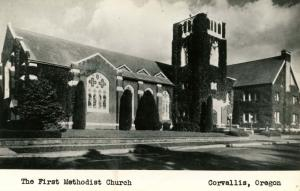 OR - Corvallis.  The First Methodist Church  *RPPC