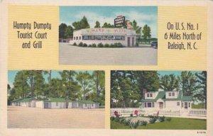 North Carolina Raleigh Humoty Dumpty Tourist Court And Gill Albertype