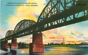MO, Saint Louis, Missouri, General Douglas MacArthur Bridge, Colourpicture 15396