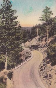 California San Jacinto Highway To Idylwild Resorts Handcolored Albertype
