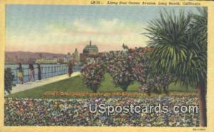 East Ocean Ave - Long Beach, California CA Postcard