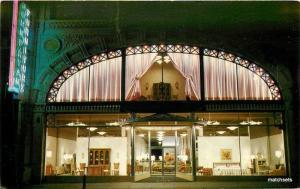 1950s Troy New York John Ryan Furniture Showroom Advertising Night Neon Postcard