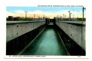 Panama - Canal Zone. Gatun Locks looking South