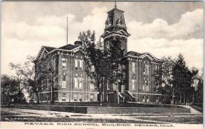 NEVADA, Iowa  IA    NEVADA HIGH SCHOOL   ca 1910s  Albertype    Postcard