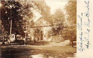 G22/ Hopkinton New York RPPC Postcard c1920s Episcopal Church Building