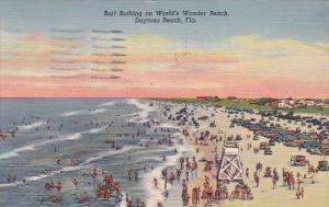 Florida Daytona Beach Surf Bathing On Worlds Wonder Beach 1943