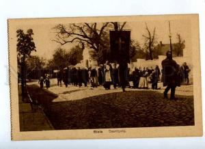 191467 WWI POLAND BIALA funeral Vintage German Bug Army PC