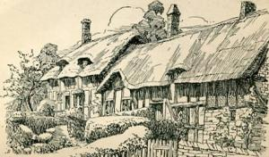 UK - England, British Countryside Series, Anne Hathaway's Cottage  Artist Sig...