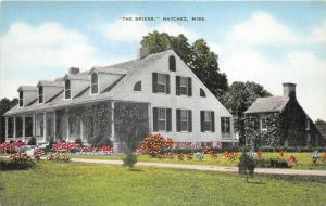 Natchez Mississippi~The Briers House (Built 1818)~Info on Back~Linen Postcard