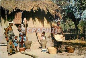 Postcard Modern Africa in Color Scene Villageoise